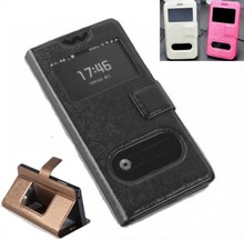 New 2 View Window For HTC incredible S S710e G11 S710D Case PU Leather Flip Cases Cover phone For G11 S710D Luxury accessories(China (Mainland))
