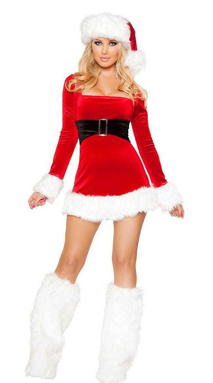 Women christmas dress sexy costumes santa claus