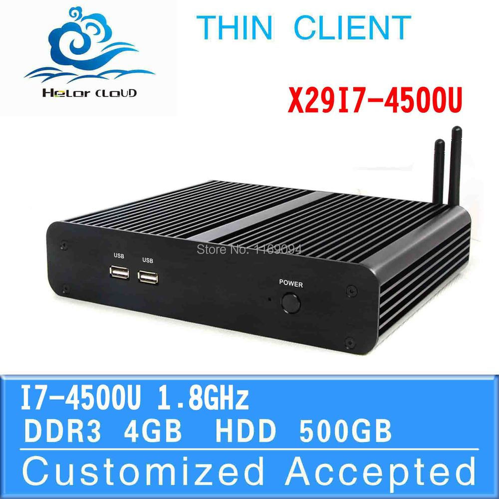 oem/odm industrial computer mini barebone all one one pc X29-I7 4500u 4g ram 500g hdd support full-screen movies and 2D games(China (Mainland))