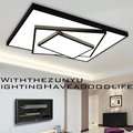 24W 36W Dimmable LED Lamp Modern Living Room Bedroom Ceiling Lights Multilayer Black White Iron Acrylic