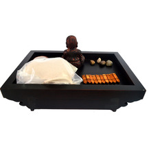 Asian Feng Shui Sand Zen Garden Buddha Stone Incense Burner J2085(China (Mainland))
