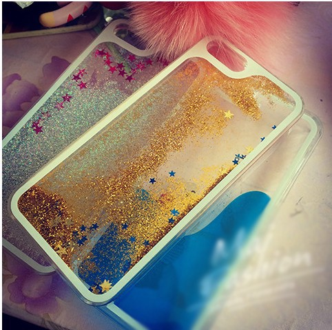 Colorful Glitter Stars Bling Dynamic Liquid Quicksand Crystal Clear Cellphone Back Cover Case Cover For iPhone 5 5s(China (Mainland))