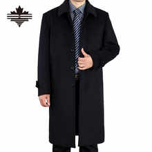 Men's Wool Coats Autumn And Spring X-Long Woolen Coat Men Single Breasted Wool Coats Overcoat Outdoor 3XL 2XL England Style(China (Mainland))