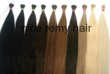 "wholesale,high quality 24"" Grade A 0.8g/str 40str/pack pre-bonded stick I tip hair extensions"