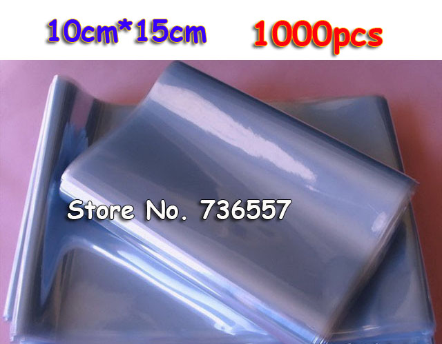 10*15cm Transparent PVC Plastic Top Open Gift Commodity Cosmetics Heat Shrink Wrap Bag Heat Shrinkable Film Packaging Pouch(China (Mainland))
