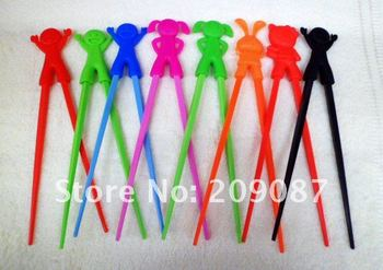 Free shipping! WHOLESALE 200pairs  children learning chopsticks plastic toy infant chopsticks , high quality