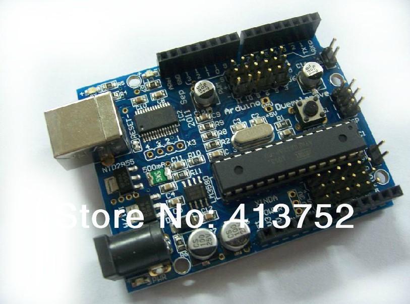 Free shipping duemilanove 2009 - ATMega328-20PU microcontroller development board(China (Mainland))