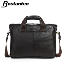 Bostanten 2016 New Fashion Genuine Leather Men Bag Famous Brand Shoulder Bag Messenger Bags Causal Handbag Laptop Briefcase Male(China (Mainland))
