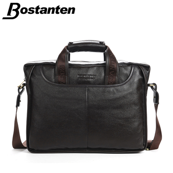 Bostanten 2016 New Fashion Genuine Leather Men Bag Famous Brand Shoulder Bag Messenger Bags Causal Handbag Laptop Briefcase Male
