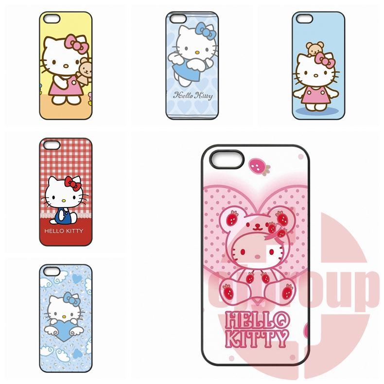 For Apple iPhone 4 4S 5 5C SE 6 6S Plus 4.7 5.5 iPod Touch 4 5 6 Hello Kitty cute cartoon classic Cases TPU Mobile Phone(China (Mainland))