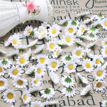 artificial Silk flowers decorative craft white little sunflower flowers Heads for wedding/home/party decorations(China (Mainland))
