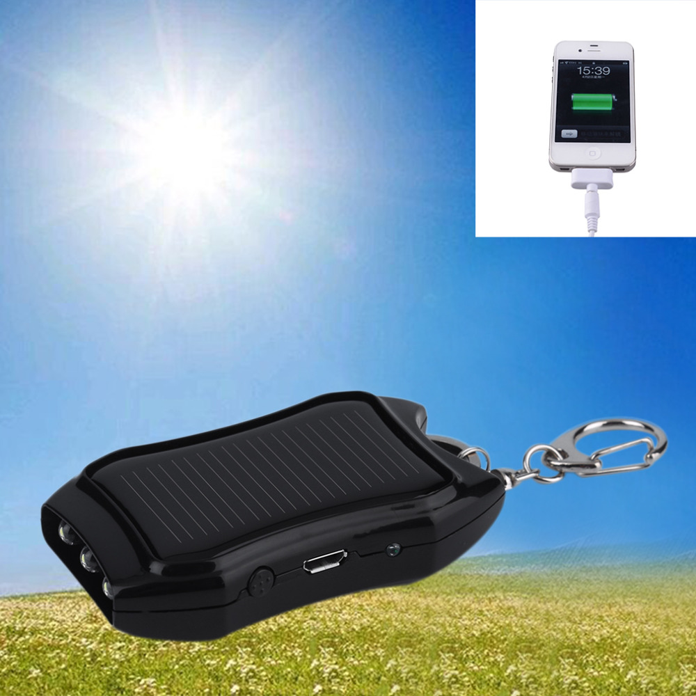 1200mAH Solar Keychain Solar Charger Mobile Power Supply Energy Saving Charger/Battery Power Bank For Cellphone New(China (Mainland))