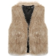 New Arrival Outerwear 2016 Autumn Winter Women Faux Fur Vest Gilet Sleeveless Jacket Casual Warm Coat Waistcoat Plus Size S-2XL(China (Mainland))