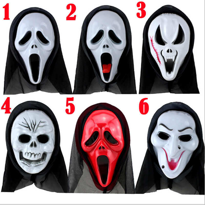 1PC New Funny Horror Halloween Mask Ghost Face Full Head Mask Horrible Latex Soft Mask Prop Costume, Free Shipping(China (Mainland))