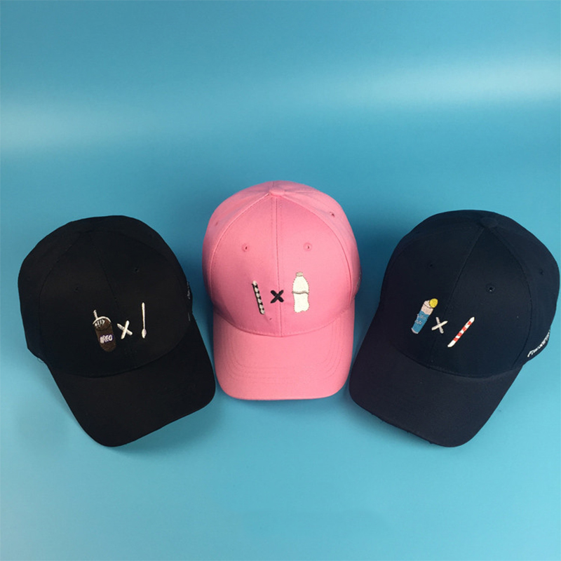 2016 New Europe Women Men Summer Spring Cotton Cute Shape Soft Drink Hats Solid Adult baseball Cap candy color Snapback(China (Mainland))