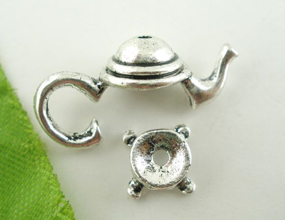 10Sets Antique Silver Teapot Bead Cap Set Findings 21x9mm Mr.Jewelry(China (Mainland))