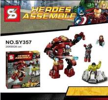 SY357 Building Blocks Super Heroes Avengers 2 Age Of Ultron Minifigures Justice League Iron Man Hulk Buster Bricks Mini Figures