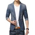 2015 New Fashion Brand Mens Jacket PU Pachwork Korean Slim Fit Mens Designer Clothes Men 100% Cotton Casual Jacket Plus Size 5XL