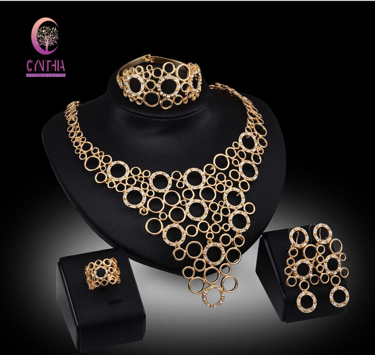Bridal Jewelry Sets Nigerian Wedding African beads jewelry set crystal 18k gold plated jewelry wedding accessories party <br><br>Aliexpress