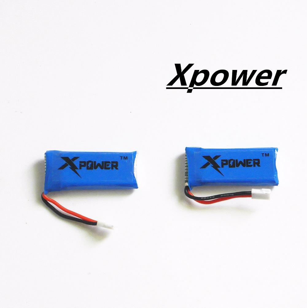 2pcs H107 Xpower 3.7V 500mAh LiPo Battery Hubsan H107 h107c JXD385 YD928 U816 rc Wltoys Walkera Quadcopter