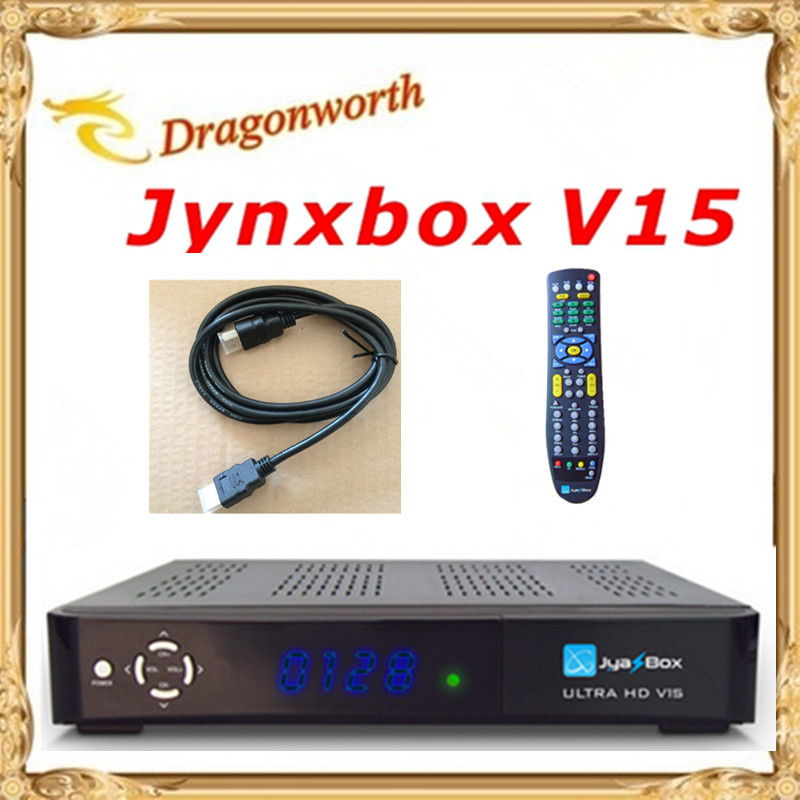 1pcs High Quality Jynxbox Ultra HD V15 Satellite Receiver 1080p+Free JB200 8PSK Module Wifi for North America Free Ship(China (Mainland))