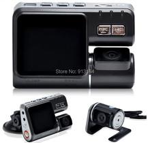 I1000 Car DVR Dual Lens Camcorder HD 1080P Dash Cam with Rear View Camera Car Black Box DVR Camera Dual Camera Allwinner Car DVR(China (Mainland))