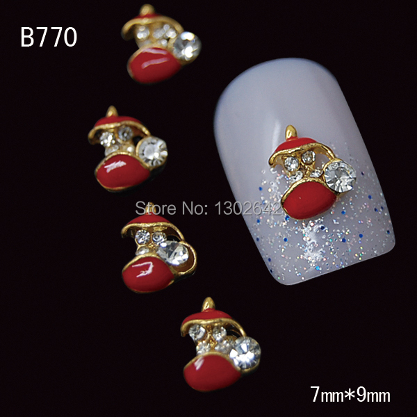 B770 10pcs/lot Red Kettle Pot Alloy Sticker Decoration UV Gel Tips Nail Art Jewelry Design For Nails(China (Mainland))