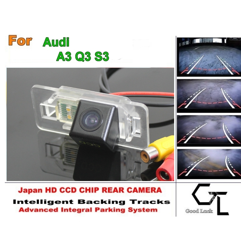 For Audi A3 Q3 S3 Directive Parking Tracks Lines Rear Camera HD CCD HD Model / Best Model(China (Mainland))