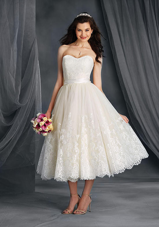 Popular Country Western Wedding Dresses Tea Length-Buy Cheap ...
