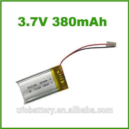 Hot sale 602025 3.7v 380mah rechargeable lipo battery for MID camera, bluetooth walkie talkie(China (Mainland))