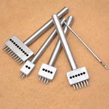 Buy 4mm Spacing DIY Hand Perforated Round Stitching Punch Tools Hole Cut Round Leather Punching Tool 1/ 2/4/6/10/ Holes for $4.28 in AliExpress store