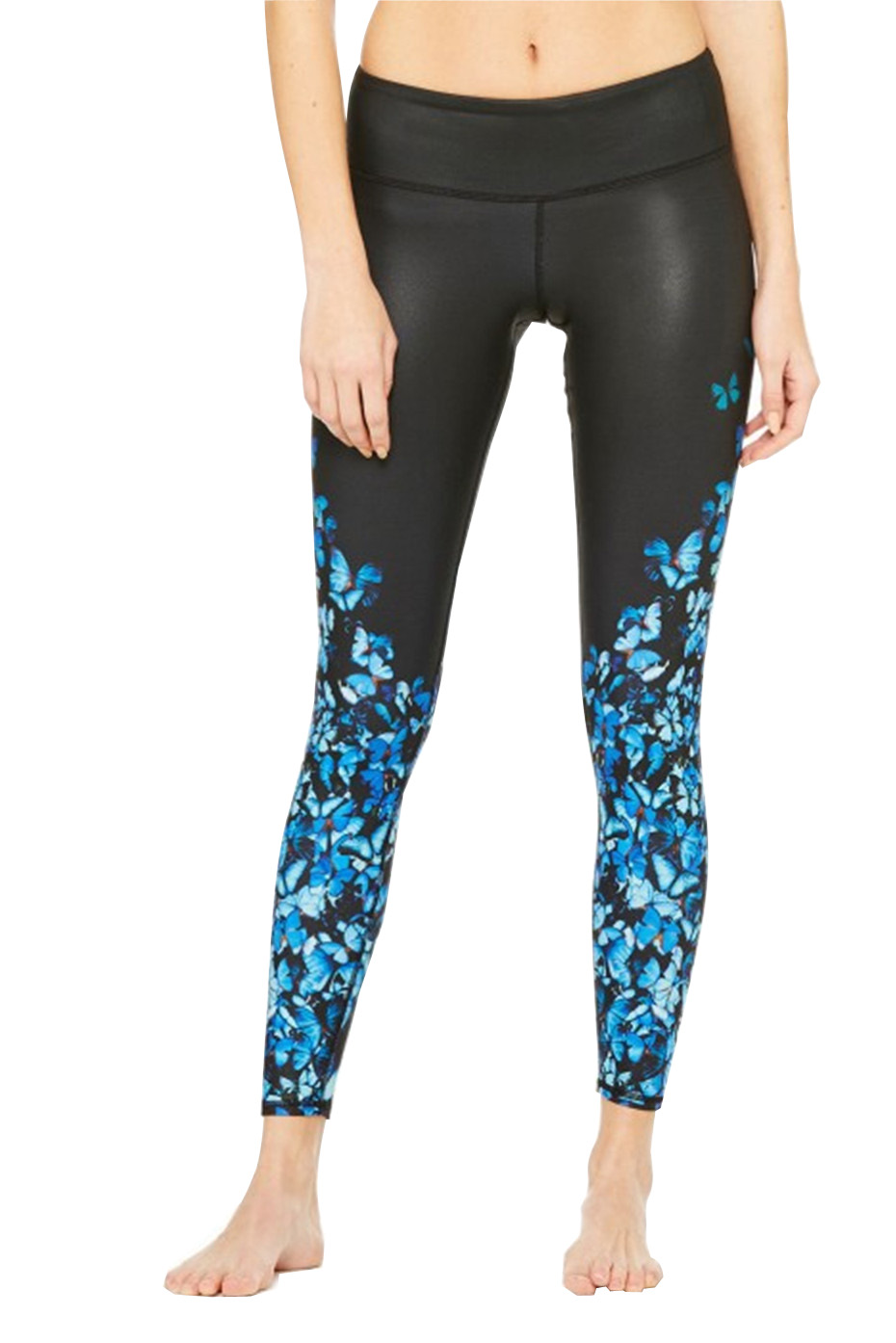 3D Butterfly Printing Professional Yoya Leggings Quick Dry Women Sports Pants Quality Fitness Legging Running Tights(China (Mainland))