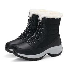 Frauen Stiefel Wasserdichte Winter Schuhe Frauen Schnee Stiefel Plattform Warm Halten Stiefeletten Winter Stiefel Mit Dicken Pelz Heels Botas Mujer 2018(China)