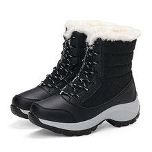 Frauen Stiefel Wasserdichte Winter Schuhe Frauen Schnee Stiefel Plattform Warm Halten Stiefeletten Winter Stiefel Mit Dicken Pelz Heels Botas Mujer 2019(China)