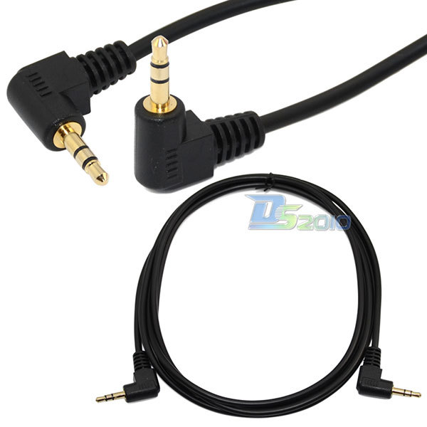 "Sale!High Quality6Ft 1.8M 1/8"" 3.5mm 90 Degree right angled mini plug stereo audio Headphone Extension cablenew(China (Mainland))"