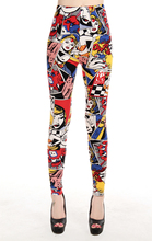 Europe America Comic beauty girl letters print leggings high spandex woman novelty legging plus size free shipping SM9243(China (Mainland))