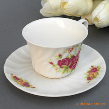 Supply Jingdezhen Ceramic Coffee Set 9 C bone china coffee cup and saucer Pot red and yellow roses 4311