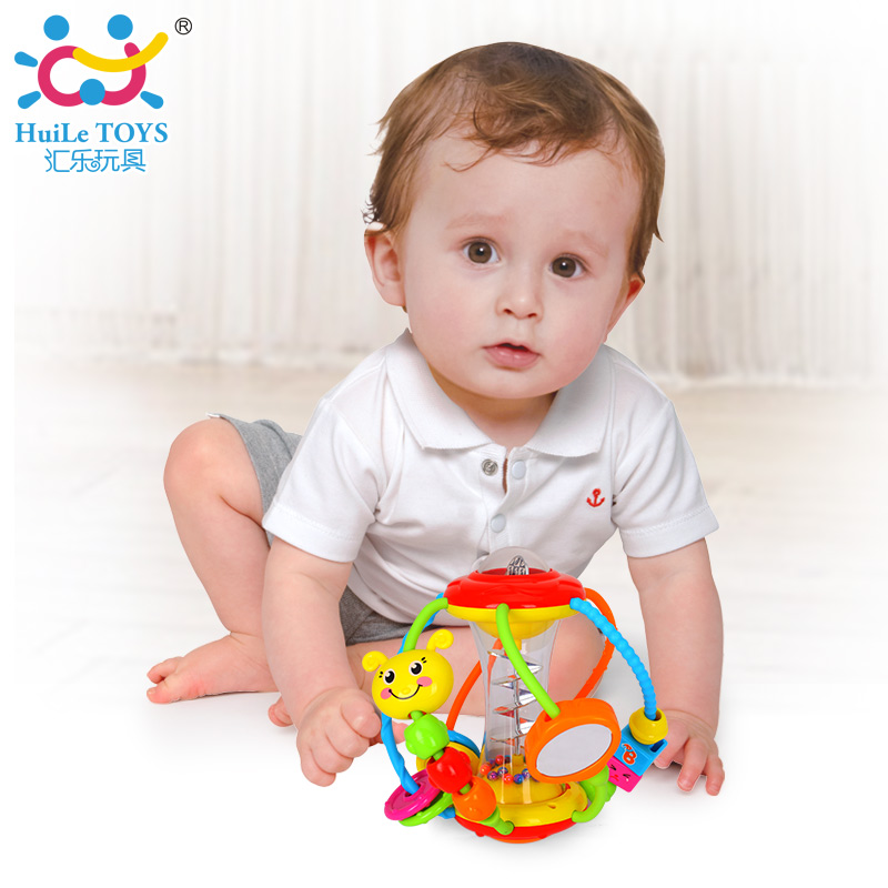 HUILE TOYS Baby Toys Ball 929 Baby Rattles Educational Toys for Babies Grasping Ball Puzzle Multifunction Bell Ball 0-18 Months(China (Mainland))
