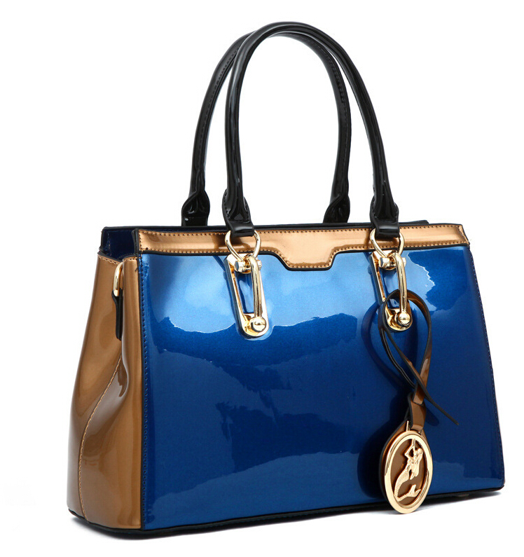 2015 Newest Fashion 100% patent leather Women handbags\bag, ladies' Tote Bags\shoulder bags(China (Mainland))