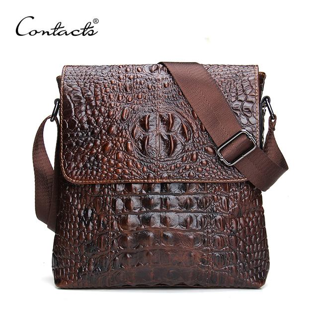 2016 натуральная кожа мужчины сумка для меле крокодил стиль мужские деловые Messenge ...