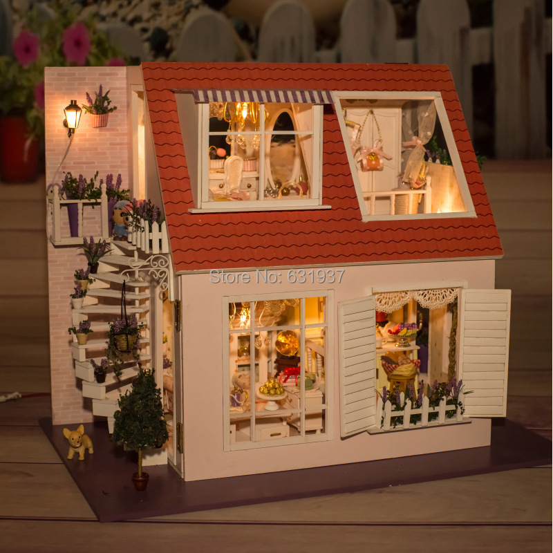 Diy Wooden Doll House Miniatura Furniture Wood Dolls 1 12