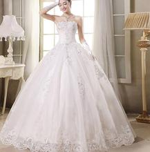 Free Shipping New A Line Crystal Sweetheart Sleeveless White Satin Bridal Wedding Dress Wedding Gown Vestido De Noiva 30202