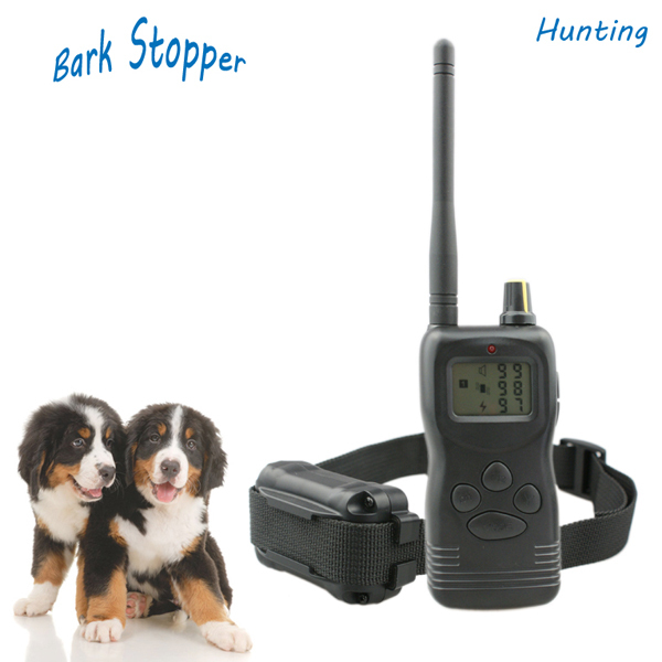 Free Shipping adjustable 1000M remote dog training collar 99 levels 3 modes LCD display anti bark device IS-PET900-1(China (Mainland))