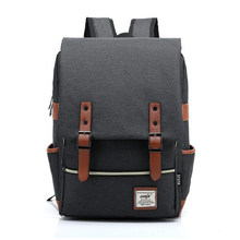Fashion Canvas Men Daily Backpacks for Laptop Large Capacity Computer Bag Casual Student School Bagpacks Travel Rucksacks 1050tp(China (Mainland))