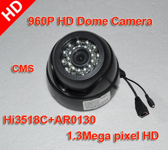 960P HD IP network Camera 1.3Megapixel 3.6mm Onvif IR-Cut P2P Security Dome Camera with CMS + Free shipping<br><br>Aliexpress