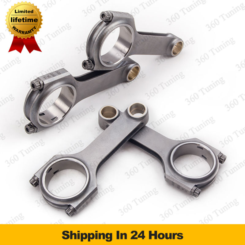 "For Ford Duratec 2.3L Mazda MZR Connecting Rod Con Rods Conrod Forged Steel H Beam 4340 ARP 2000 3/8"" Racing Engine 800hp(China (Mainland))"