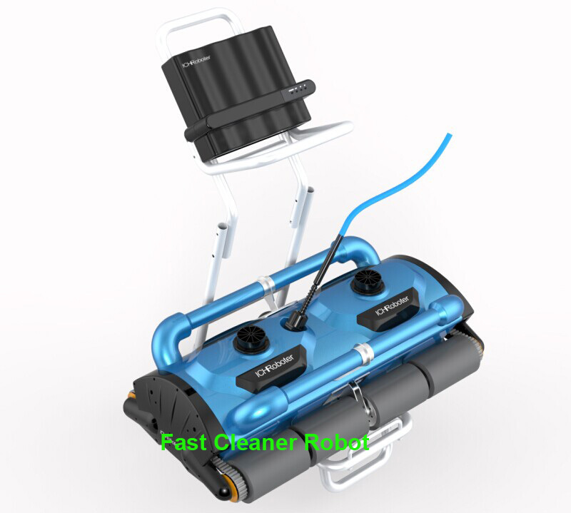 Free Ship Wall Climbing Function Remote Control Commerical Use Automatic Swimming Pool Cleaner Robot for big Swimming pool1000M2(China (Mainland))