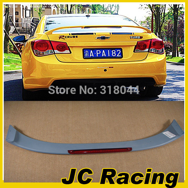 Promotional ABS  Auto Car Rear Wing , Trunk Spoiler LED Chevrolet (Fit chevrolet cruze 2011-2014)