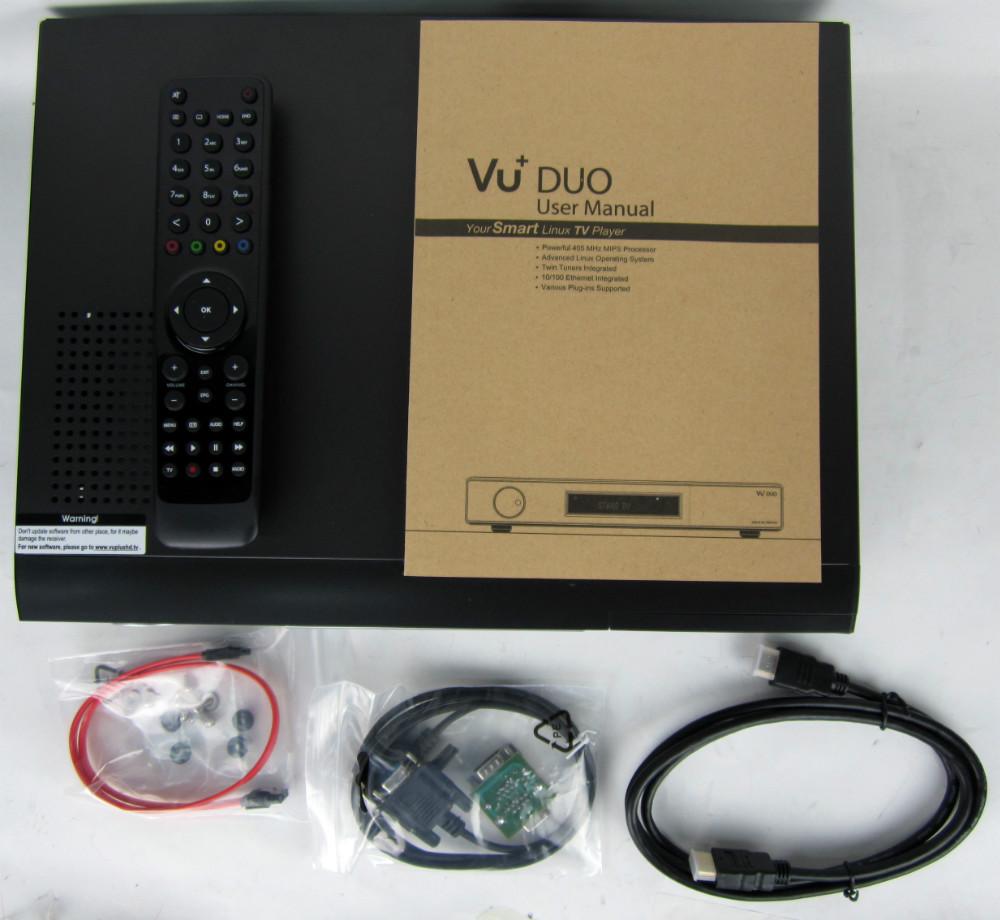 newest V3.2 Version Vu Duo Vu+Duo Twin Tuner DVB-S2 PVR Linux Digital Satellite Receiver Newest VU+DUO Free DHL/UPSShipping 1pcs(China (Mainland))