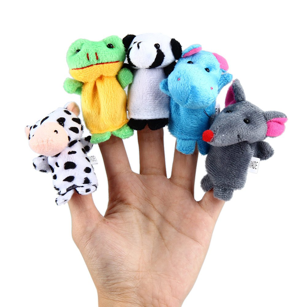 10 PCS/SET Educational Finger Puppets Cloth Doll Cartoon Animal Toy Educational Hand Cartoon Animal Finger Puppet Toys 1561897(China (Mainland))
